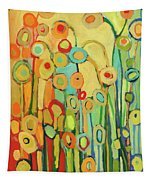 Dance Of The Flower Pods Tapestry by Jennifer Lommers