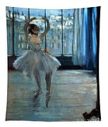 Dancer In Front Of A Window Tapestry