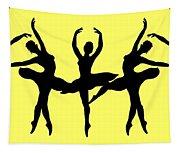 Dancing Ballerinas Silhouette Tapestry