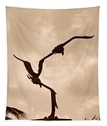 Dancing Birds Tapestry