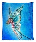 Dancing Fairy In Blue Sky Tapestry