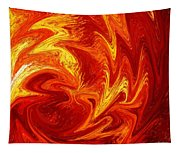 Dancing Flames Abstract  Tapestry
