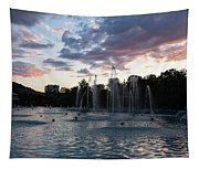 Dancing Jets And Music Sunset - Plovdiv Singing Fountains Tapestry