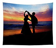 Dancing On The Beach - Painting Tapestry