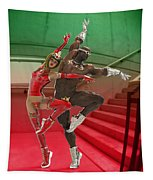 Dancing On The Stairs Tapestry