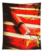 Danger Bomb Background Tapestry