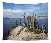 Dangerous Slope At Crater Lake Tapestry