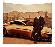 Daniel Craig As James Bond Tapestry