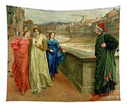 Dante And Beatrice Tapestry