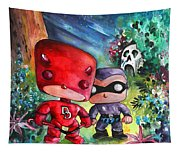 Funkos Daredevil And The Phantom In The Jungle Tapestry