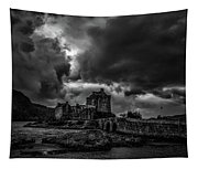 Dark Clouds Bw #h2 Tapestry