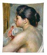 Dark-haired Woman Tapestry