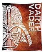 Darth Vader - Star Wars Art - Brown And White Tapestry
