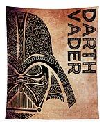 Darth Vader - Star Wars Art - Brown Tapestry