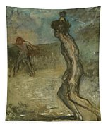 David And Goliath Tapestry