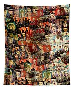 David Bowie Collage Mosaic Tapestry