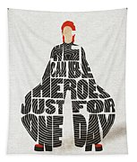 David Bowie Typography Art Tapestry