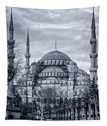 Dawn At The Blue Mosque Tapestry