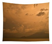Dawn Over The Volcano 3 Tapestry
