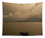 Dawn Over The Volcano Tapestry
