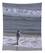 Day Of Ocean Fishing Tapestry