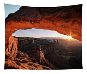 Daybreak At Mesa Arch Tapestry