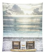 Daydreaming By The Sea In Watercolors Tapestry