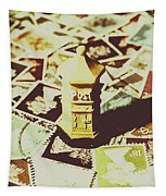 Days From The Vintage Post Office Tapestry