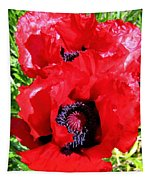Dazzling Red Poppies Tapestry
