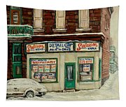 De Bullion Street In  Winter Montreal Tapestry