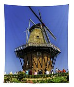 De Zwaan Windmill In Holland Tapestry
