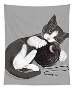 Death Star Kitty Tapestry