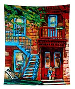 Debullion Street Neighbors Tapestry