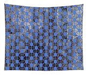 Decadent Urban Blue Patterned Abstract Design Tapestry