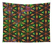 Decadent Urban Orange Green Patterned Abstract Design Tapestry