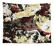 Decadent Urban Red Bricks Painted Grunge Abstract Tapestry