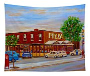 Decarie  Tasty  Food  Pizza Tapestry