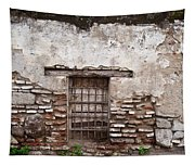 Decaying Wall And Window Antigua Guatemala Tapestry