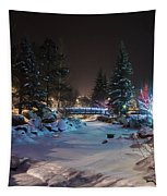 December On The Riverwalk Tapestry by Perspective Imagery