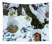 Decorations In The Snow Tapestry