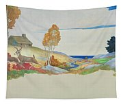 Deer And Stream Tapestry