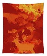 Deer Art Evening Tapestry