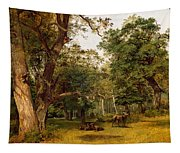 Deer At The Edge Of A Wood Tapestry