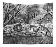 Deer Field  Tapestry