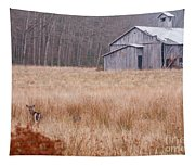 Deer In Hiding Tapestry