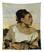 Delacroix: Orphan, 1824 Tapestry