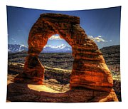 Delicate Arch Framing La Sal Mountains Tapestry