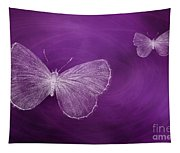Delicate Butterflies Purple Tapestry