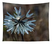 Delicate Silver Wildflower Tapestry