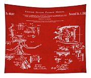 Dentists Chair Patent 1892 In Red Tapestry